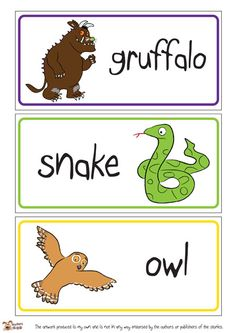 Teacher's Pet - The Gruffalo Word Mat - FREE Classroom Display Resource - EYFS, KS1, KS2, julia, donaldson, grufalo, mouse, snake, owl, fox,...