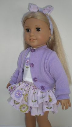 LAVENDER+SWEATER+fits+American+Girl+18+inch+doll+by+dollupmydoll,+$10.00