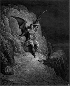 The Fall of Satan for the book Paradise Lost by Gustave Doré