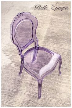 A lovely transparent polycarbonate italian chair in unconventional settings.