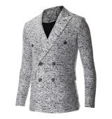 http://www.flatsevenshop.com/blazers/men-s-double-breasted-wool-blend-tweed-blazer-jacket-with-peaked-lapel-bj490.html Men's Double Breasted Wool Blend Tweed Blazer Jacket with Peaked Lapel (BJ490) #mens jackets #jackets #mens wear #suits #shirts #clothing  #clothes #cybermonday #blackfriday
