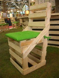DIY pallet dining chair creative idea