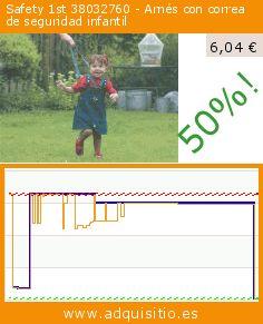 Safety 1st 38032760 - Arnés con correa de seguridad infantil (Producto para bebé). Baja 50%! Precio actual 6,04 €, el precio anterior fue de 11,97 €. https://www.adquisitio.es/safety-1st/38032760-arn%C3%A9s-correa