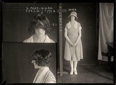 DOROTHY MORT, CRIMINAL RECORD NUMBER 773LB, 16 OCTOBER 1929. STATE REFORMATORY FOR WOMEN, LONG BAY, NSW  Mrs Dorothy Mort was having an affair with dashing young doctor Claude Tozer. On 21 December 1920 Tozer visited Mort's home intending to break off the relationship. Mort shot him dead and then attempted to commit suicide. She was released from gaol shortly after this photograph was taken and disappeared from the public eye.