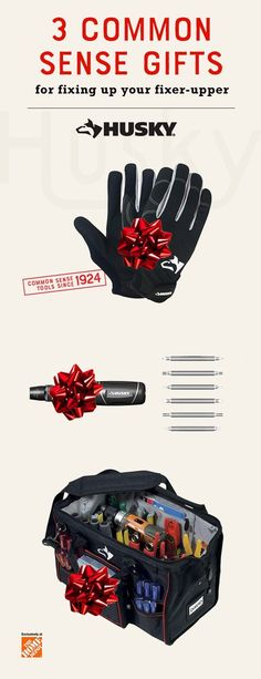 Looking for gift ideas? Give the tool and DIY lover in your life the gift that keeps on fixing this Holiday season with Husky Hand Tools. The Folding Lock-Back Utility Knife, 12-in-1 Quick Load Screwdriver and Wood Handle Aggressive Tooth Saw all make excellent additions to your home renovator's tool chest, tool box, work bench or garage. Get the new year started off right with a gift they can use for any home improvement project. Click to explore more gift ideas.