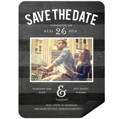 Save the Date Magnets -- Chalkboard Date Photo | Pear Tree Greetings