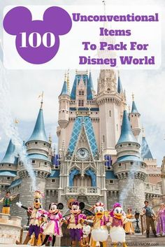 Disney World Tips and Tricks: 100 Unconventional Items to Pack for Disney World. It's the BEST Disney World secrets you need to know. Disney World Resorts, Disney World Secrets, Disney World Tips And Tricks, Disney World Trip, Disney Tips, Disney Vacations, Disney Disney, Disney Parks, Disneyland Tips