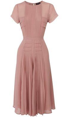 Warehouse Blush Pleated Maxi Dress, £70