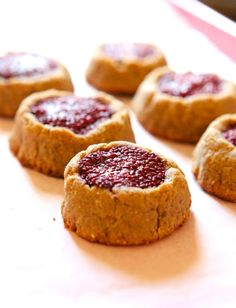 Girls, here is an amazing recipe for Peanut Butter & Jelly Cookies. This will help kick those sugar cravings and keep you on track! These sweet treats are high in protein, gluten free, dairy free, have no added sugar and are vegan-suitable too! Peanut Butter & Jelly Cookies Ingredients: 1⁄2 cup peanut butter