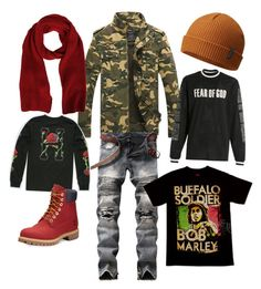"""Men fall wear."" by ieashia-friend on Polyvore featuring Fear of God, HUF, Timberland, Columbia, MSGM, men's fashion and menswear"