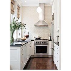 "AshleyDarryl on Instagram: ""Even small kitchens can be dressed to the NINES! #inspiration #kitcheninspo #interiordesigner #interiorinspo #homedesign #homeinspo #instahome #smallkitchen #architecture #remodelista"""