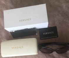 08fe1aaf633 Versace Sunglasses Womens Model   4182- Black Pre-owned  fashion  clothing