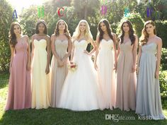 Wholesale Bridesmaid Dress - Buy 2014 Mutil-Colored Options Bridesmaid Dresses Criss Cross Sweetheart Sleeveless A-Line Floor-Length Chiffon Formal Dress Gowns, $89.0   DHgate