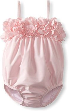 Amazon.com: Kate Mack Baby Girls' Blooming Roses Swim Bubble, Pink, 12 Months: Infant And Toddler One Piece Swimsuits: Clothing #babygirlswimsuit