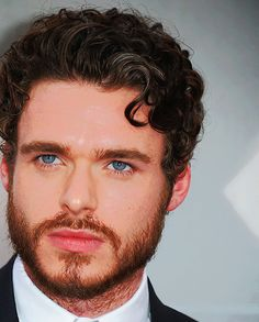 Rob stark from game of throne...this is why i watch it. richard madden. and his blue eyes.