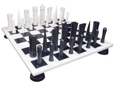 b/w chess set