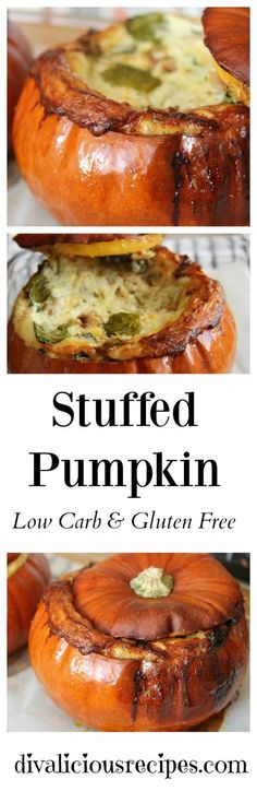 A stuffed pumpkin recipe that is full of cheese, spinach and walnuts. A great starter to share or a main between a couple of people