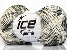 Suerte Cotton Grey Shades Cream  Fiber Content 60% Cotton, 24% Polyamide, 16% Acrylic, Brand Ice Yarns, Grey Shades, Cream, Yarn Thickness 2 Fine  Sport, Baby, fnt2-55885 Yarns, Ice Cream, Knitting, Grey, Fiber, Cotton, Sport, Breien, No Churn Ice Cream