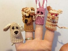 Finger+Crochet | Finger puppets - crochet