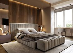 Cool Bedroom Interior Design Ideas With Luxury Touch - Page 33 of 48 Modern Luxury Bedroom, Luxury Bedroom Design, Bedroom Furniture Design, Master Bedroom Design, Luxurious Bedrooms, Home Decor Bedroom, Interior Design, Modern Bedrooms, Bedroom Layouts