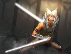 This illustration was created as a variant cover for the Ahsoka novel, but never used. I personally really like it! 🎨 by Michele Frigo… Reylo, Jedi Meister, Asoka Tano, Star Wars Painting, Star Wars Novels, Star Wars Images, Star Wars Fan Art, Star War 3, Star Wars