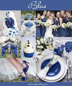 Blue Wedding Color - could add silver accents for a beautiful Winter wedding. Wedding Themes, Wedding Styles, Wedding Decorations, Perfect Wedding, Dream Wedding, Wedding Day, Popular Wedding Colors, Deco Table, Wedding Color Schemes
