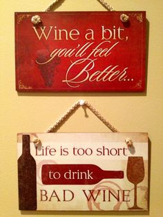 My new wine signs