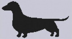 Weiner Dog 3 Cross Stitch Pattern  | Craftsy