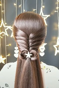 Should have stopped with the side ponytail # Braids peinados medium hair Awesome Side Ponytail Hairstyles, Easy Hairstyles For Long Hair, Braided Hairstyles, Side Ponytails, Hairstyle Ideas, Hairstyle Tutorials, Updo Side, Side Buns, School Hairstyles