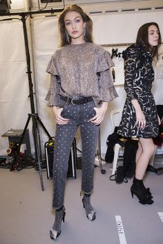 Isabel Marant Fall 2017 Fashion Show Backstage, Paris Fashion Week, PFW, Runway, TheImpression.com - Fashion news, runway, street style, models