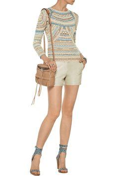 Freeform crochet pullover