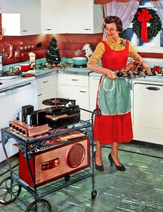 Something to keep her company while she works her Christmas day away in the kitchen; by x-ray delta one, via Flickr