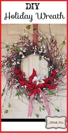 TidbitsTwine DIY Holiday Wreath DIY Holiday Wreath Tutorial {One Wreath for All Seasons}