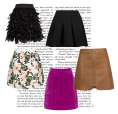 """SKIRTS"" by mediedi ❤ liked on Polyvore featuring T By Alexander Wang, Alice + Olivia and L.K.Bennett"