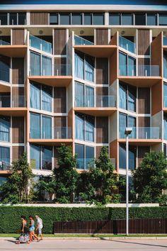 New Design Condominium Condominium Architecture, Architecture Design, Facade Design, Arch Building, Building Facade, Building Design, Condo Design, Apartment Design, Facade House
