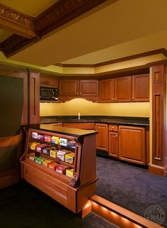Home Theatre Good Idea For The Theatre With A Bar In It Love The