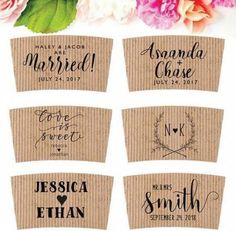 Wedding Coffee Sleeve Stamp - Wedding Brunch Coffee Cup Stamp - Coffee Wedding Favor - Coffee Cup Sleeve Stamp - Custom Coffee Favor by SouthernPaperAndInk on Etsy Coffee Favors, Coffee Wedding Favors, Wedding Cups, Wedding Favors Cheap, Brunch Wedding, Wedding Paper, Wedding Punch, Wedding Reception, Wedding Venues