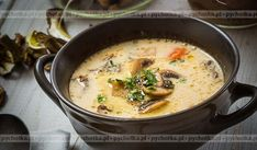 ZUPA GRZYBOWA pachnąca lasem. Forest mushroom soup. Yes.... yes..., wild mushrooms picked in beautiful, wild forest. Do not get scared just try it .....we are Polish we eat strange things for ages. Wild mushrooms are not unusual for Polish Cuisine