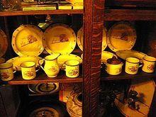 Vintage Monterrey Western Ware 20 pc. dinner set - 12 Plate, 6 cups, Creamer & Sugar pot w/lid