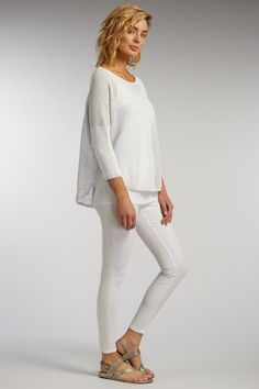 Indigenous mesh pullover in White #chateaucountrylace #indigenous #organiccotton #fairtrade #madeinperu #spring2016 #summer2016 #newarrivals #shopifypicks