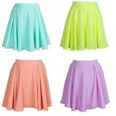 Bright Pastel Skater Skirt