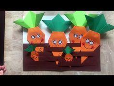VEGETABLE GARDEN ORIGAMI - YouTube Origami Vegetables, Diy For Kids, Crafts For Kids, Origami For Beginners, Beginner Origami, Garden Crafts, Art Plastique, Spring Crafts, Craft Activities