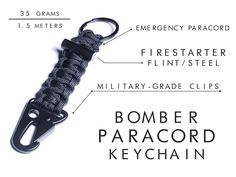 Firestarter Survival Bracelet / Carabiner Paracord Keychain project video thumbnail