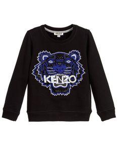 Sweatshirt with Tiger Beaded Embroidery Black     kenzo  tinyapple  i  love f73e16a645f