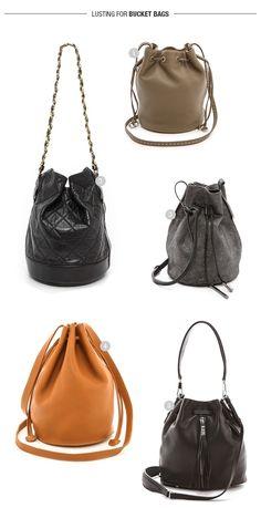 lusting for bucket bags // full details here > http://www.eatsleepwear.com/2014/09/18/lusting-bucket-bags/
