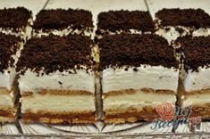 Nepečené 3BIT řezy | NejRecept.cz No Cook Desserts, Love Cake, No Bake Cake, Truffles, Tiramisu, Nom Nom, Caramel, Bakery, Food And Drink