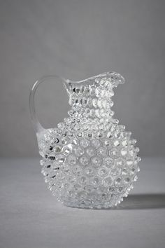 Hobnail Glass - Not sure but I think this might be Fenton. Fostoria Glass, Fenton Glass, Fostoria Crystal, Carafe, Cut Glass, Glass Art, Vintage Inspired Wedding Dresses, Chic Wedding, Wedding Decor