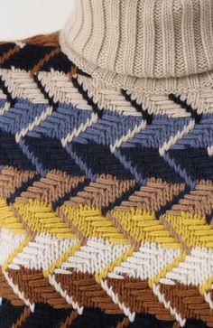 Женский разноцветный вязаный свитер из смеси шерсти и кашемира Chloé