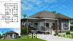 Home design plan with 3 BedroomsHouse description:One Car Parking and gardenGround Level: Living room, Dining room, Kitchen, backyard, A Frame House Plans, Three Bedroom House Plan, Free House Plans, House Layout Plans, Family House Plans, Best House Plans, House Layouts, Modern Bungalow House, Bungalow House Plans