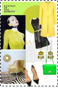 #yellowtrench #blackdress #blackboots